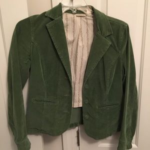 Vintage Corduroy Blazer with Floral Lining